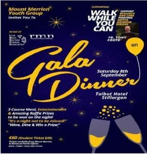 Walk while you Can, Gala Dinner @ Talbot Hotel | Dublin | County Dublin | Ireland