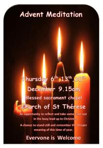 Advent Meditation, Mount Merrion Parish, Blessed Sacrament Chapel @ Blesses Scarament Chapel, Mount Merrion Church   Dublin   County Dublin   Ireland