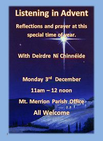 Listening in Advent, Mount Merrion Parish @ St Therese Church | Mount Merrion | County Dublin | Ireland